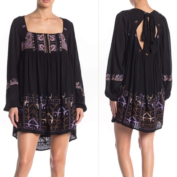 Free People Dresses & Skirts - Free People | Rhiannon Embroidered Babydoll Dress
